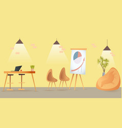 coworking room open space indoor interior design vector image