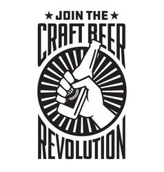 Craft beer revolution badge or label design vector