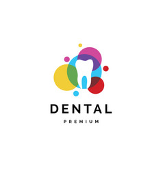 creative dental color logo vector image