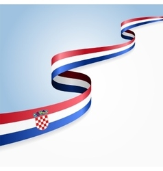 Croatian flag background vector