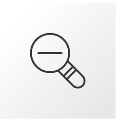 Decrease loup icon symbol premium quality vector
