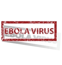 EBOLA VIRUS outlined stamp vector