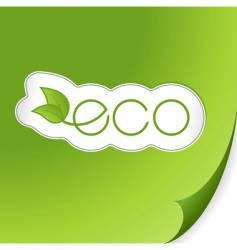 eco sticker vector image