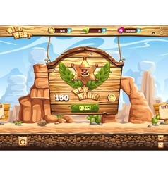Example of window change rank in the game Wild vector image