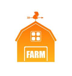 Farm house in orange vector