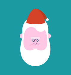 fat santa claus face head vector image