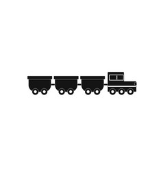 Freight wagons icon simple style vector
