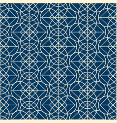 Geometrical seamless pattern in linear design vector