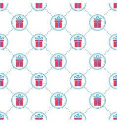 Gift box pattern vector image