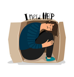 Girl depression icon vector