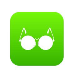 glasses for blind icon digital green vector image