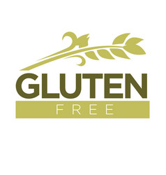 Gluten free in cereal grains logo dough without vector