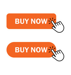 Hand cursor clicks buy button vector