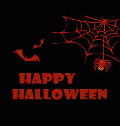 happy halloween red and black vector image