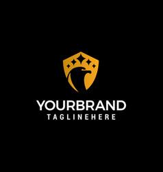 head bird luxury logo design concept template vector image