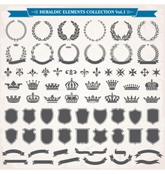 heraldic elements set 1 vector image