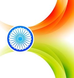 indian flag background vector image