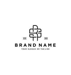 Letter sr vintage logo design vector