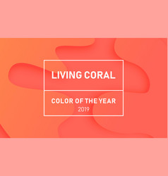 Living coral background trend color of the year vector