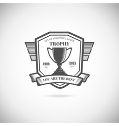 Logo victory trophie and award vector