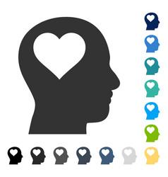 Lover head icon vector