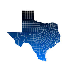 map of texas vector image