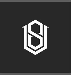 Monogram vs versus sv initials logo mockup vector