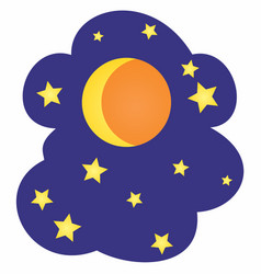 Moon and stars cartoon vector