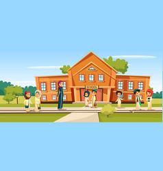 Muslim school vector