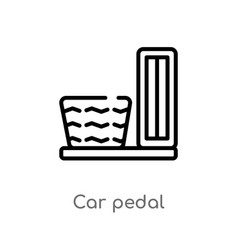 Outline car pedal icon isolated black simple line vector