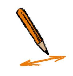 Pencil and arrows vector