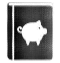Pig handbook halftone icon vector