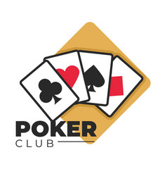 Poker club gambling and casino games play cards vector