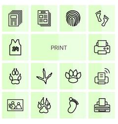 print icons vector image
