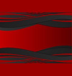 red and black geometric wave abstract background vector image