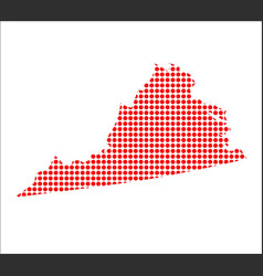 Red dot map of virginia vector