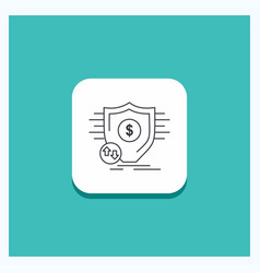 round button for finance financial money secure vector image