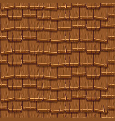 Seamless old brown wood rotiles vector