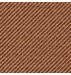 Seamless texture of brown denim diagonal hem vector