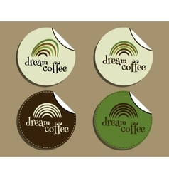 Set of unusual brand identity - dream coffee vector image