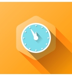 Simple of clock icon in flat style vector