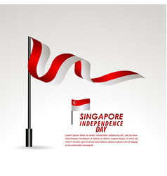 Singapore independence day celebration template vector