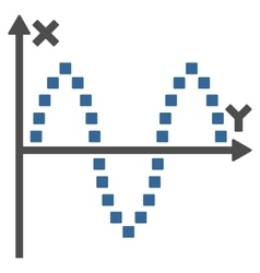 Sinusoid plot toolbar icon vector