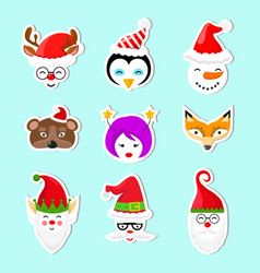 sticker icons set vector image