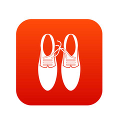 tied laces on shoes joke icon digital red vector image