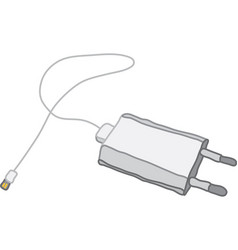 white cell phone charger with cord vector image