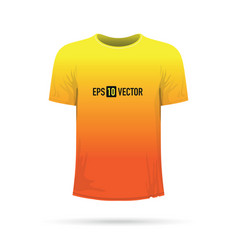 yellow orange t-shirt vector image