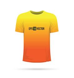 Yellow orange t-shirt vector