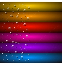 Abstract Background Water Drops on Colorful Glass vector image