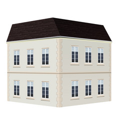 architecture design for two storey house vector image vector image